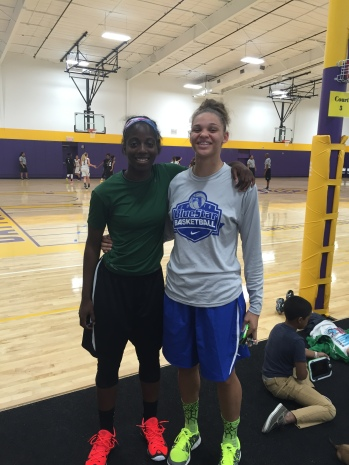 2016's Jazmine Jones and Tamara Henshaw - College Coaches you can see these 2 at #ATLSummerSlam July 24-26