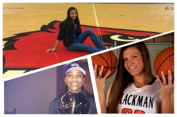 Pictured Clockwise from top - Jasmine Hurd; Mia Greatrex; Taylor Freeman